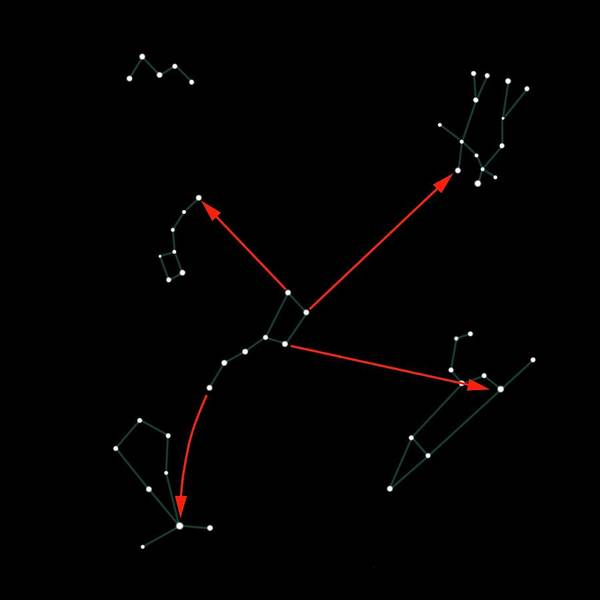Ursa Major Photograph - Northern Hemisphere Constellations by Science Photo Library
