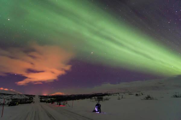 Natural Phenomenon Photograph - Northern Lights Aurora Borealis, Finland by Roger Eritja