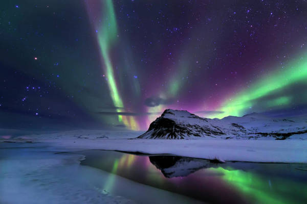 Northern Photograph - Northern Lights Reflection by Andrea Auf Dem