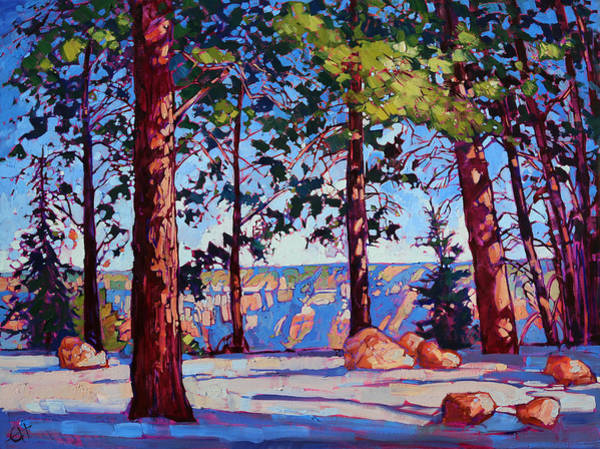 Landscape Wall Art - Painting - Northern Rim by Erin Hanson