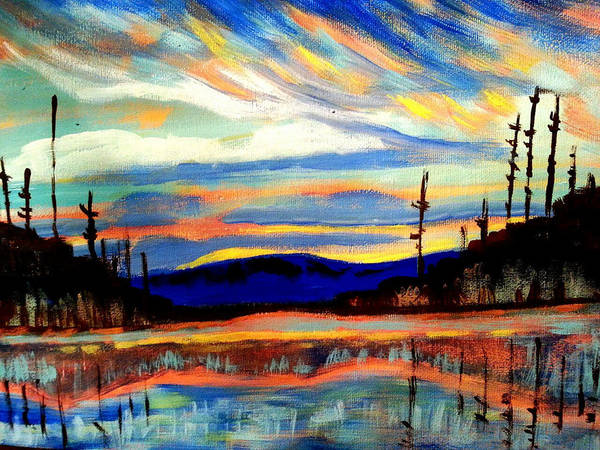 Painting - Northern Skies by Nikki Dalton