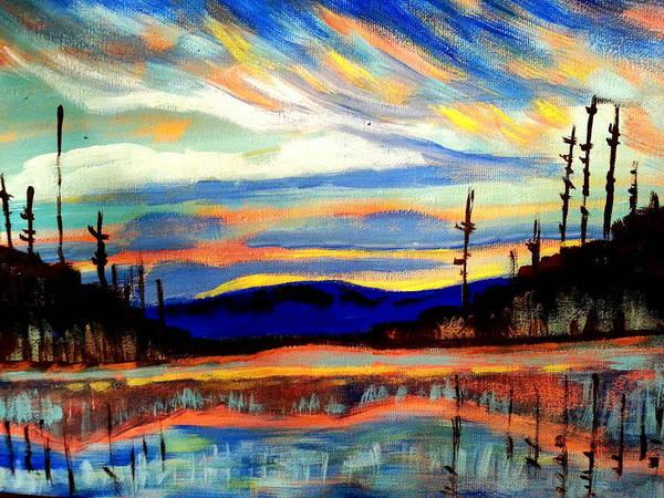 Painting - Northern Skies by Nikki Dalton