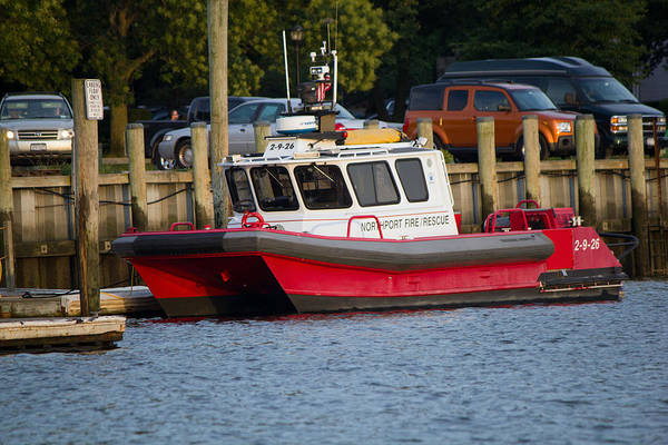 Photograph - Northport Fire Boat Long Island New York by Susan Jensen