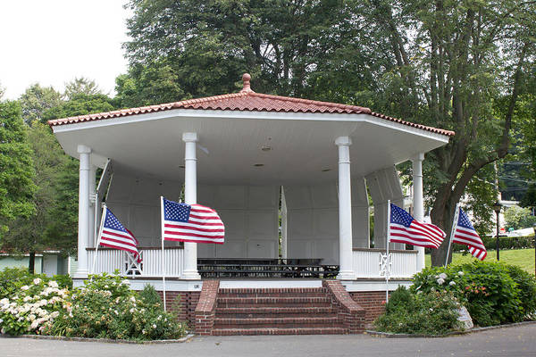 Photograph - Northport Gazebo 4th Of July by Susan Jensen