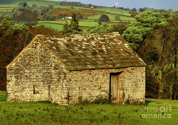 Northumberland Stone Barn Art Print
