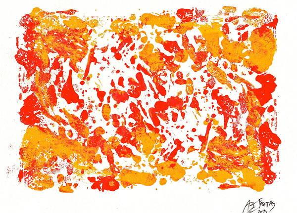 Linoleum Mixed Media - Northwest Fish by Abram Freitas