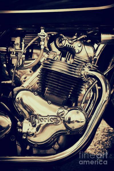Photograph - Norton Commando 750cc Engine by Tim Gainey