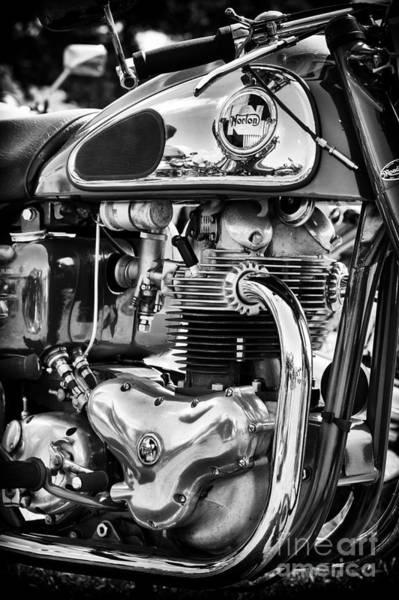 Photograph - Norton Dominator Monochrome by Tim Gainey