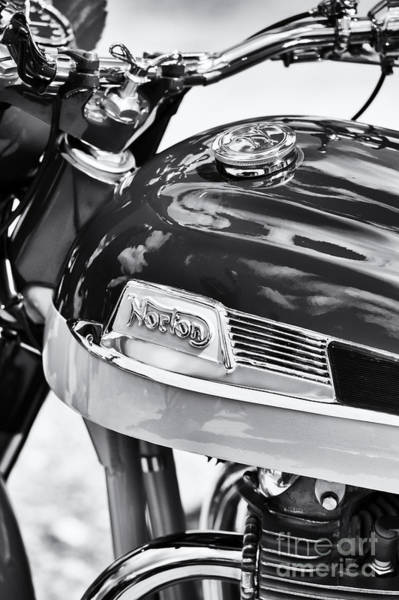 Photograph - Norton Dominator Motorcycle Monochrome  by Tim Gainey