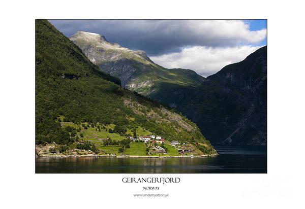 Norway Geiranger Geirangerfjord Fjord Art Print