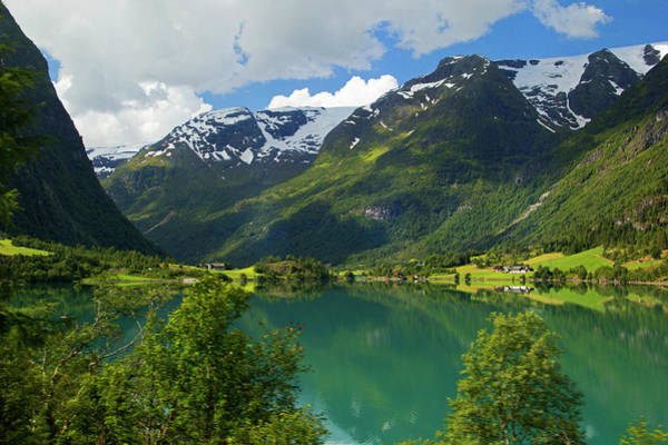 Wilt Photograph - Norway Lake Floen by Kymri Wilt