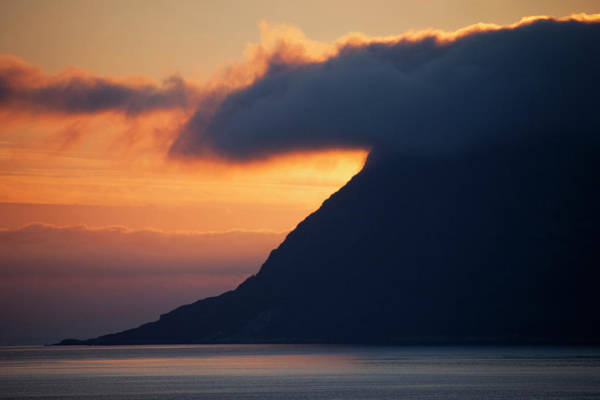 Port Orange Photograph - Norway Sunrise Marks Dramatic Coastline by Kymri Wilt