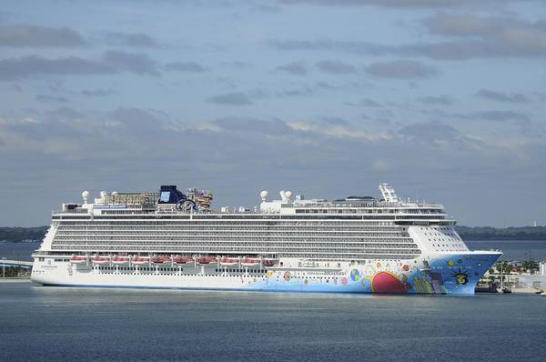 Photograph - Norwegian Breakaway At Port Canaveral by Bradford Martin