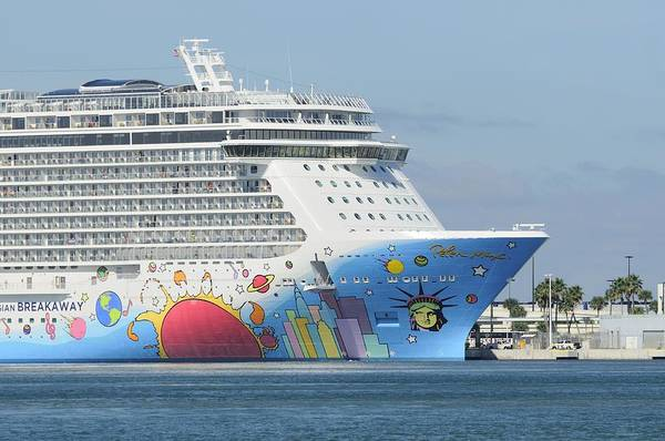 Photograph - Norwegian Breakaway With Hull Art by Bradford Martin