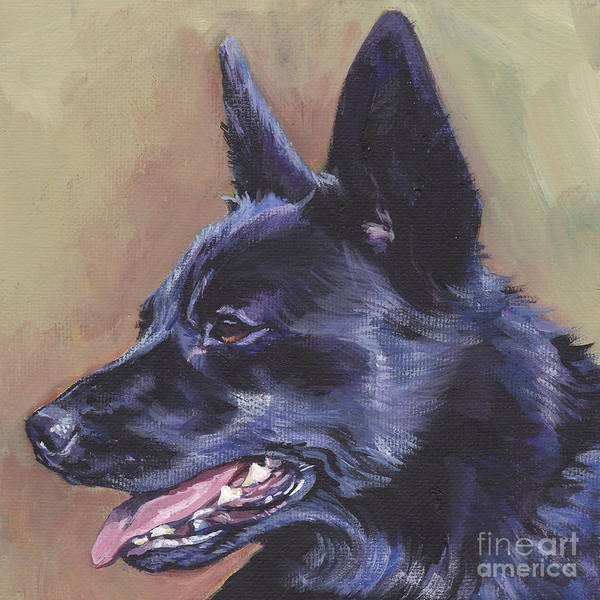 Norsk Painting - Norwegian Buhund by Lee Ann Shepard