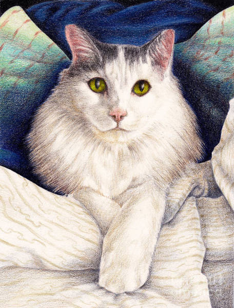 Social Commentary Painting - Norwegian Forest Cat by Phil Welsher