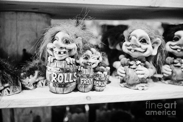 Troll Photograph - Norwegian Trolls Souvenirs For Sale In A Gift Shop Norway by Joe Fox