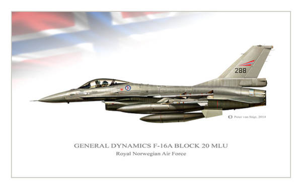 General Dynamics Digital Art - Norwegian Viper by Peter Van Stigt
