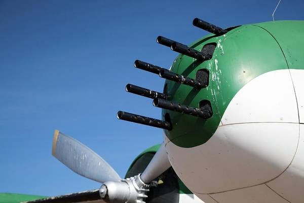 Space Gun Photograph - Nose-mounted Aeroplane Guns by Jim West