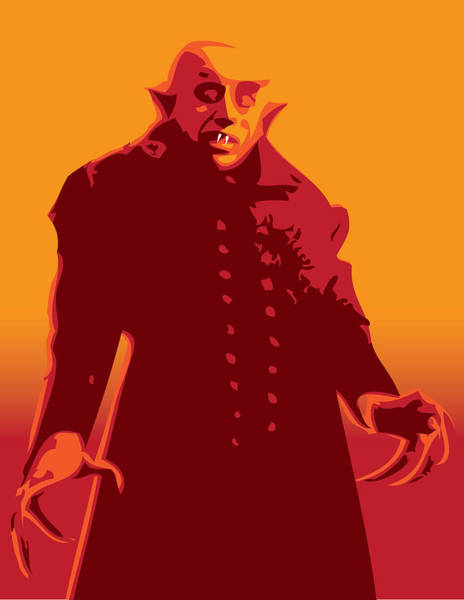 Famous Monsters Digital Art - Nosferatu by Michael Lee