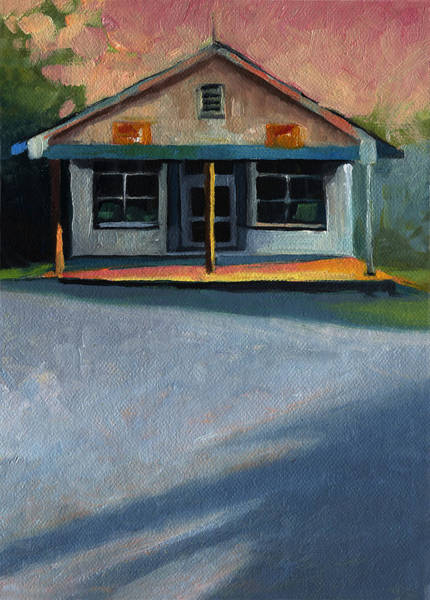 Wall Art - Painting - Nostalgic Icon Hucksteps Garage And Store by Catherine Twomey