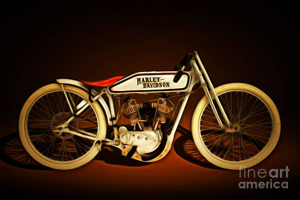 Photograph - Nostalgic Vintage Harley Davidson Motorcycle 20150227 by Wingsdomain Art and Photography
