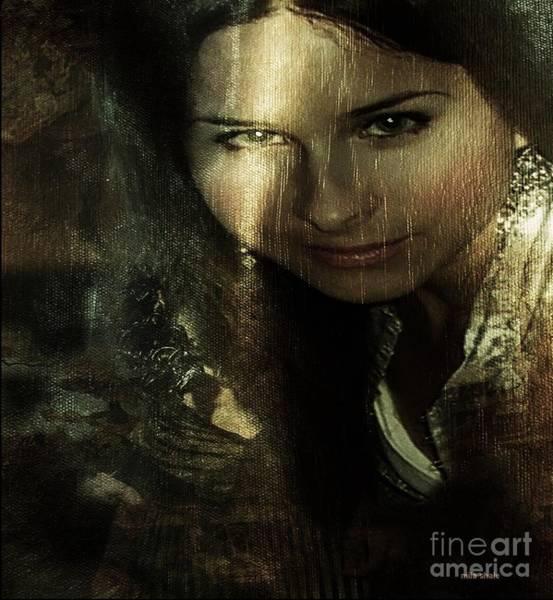 Mademoiselle Digital Art - Nostalgy. Mona L. Mission. by Mila Shale