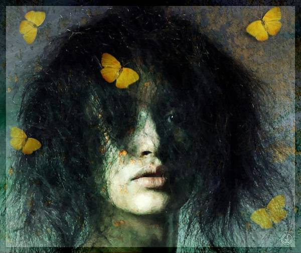 Bad Hair Wall Art - Digital Art - Not Even Butterflies... by Gun Legler