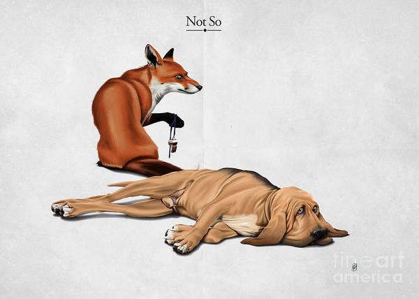 Fox Mixed Media - Not So by Rob Snow