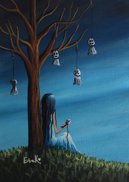 Wall Art - Painting - Not Such A Lonely Place After All Original Art by Erback Art