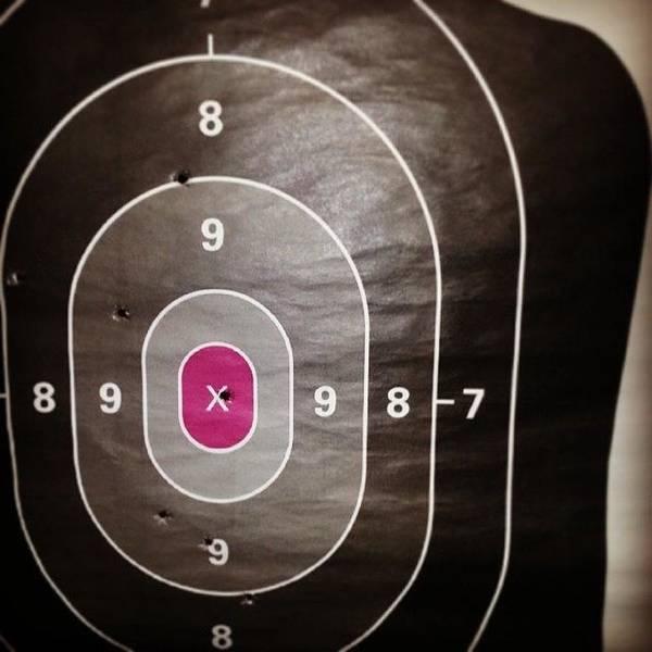 Handguns Photograph - #notbad For A #girl & #lefthand #target by Vivayne