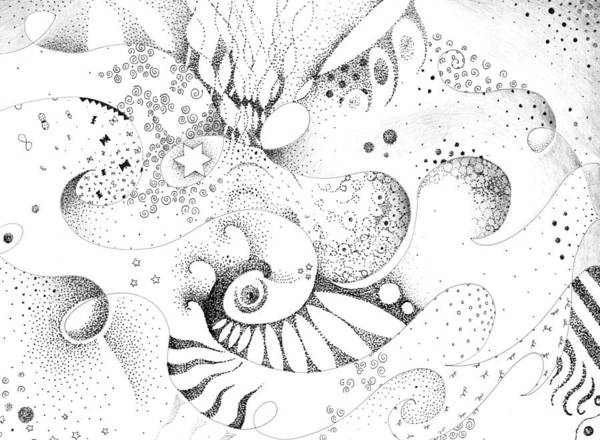 Organic Form Drawing - Nothing Beats Enthusiasm by Helena Tiainen
