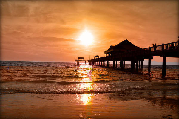 Digital Art - Nothing Like A Clearwater Sunset by Bill Cannon