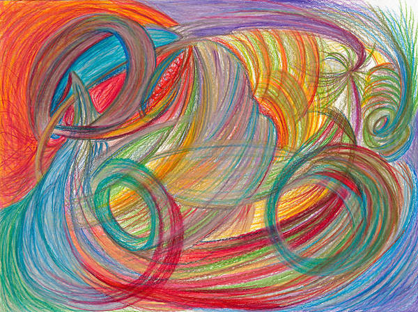 Mixed Colors Drawing - Nothing Stable by Kelly K H B