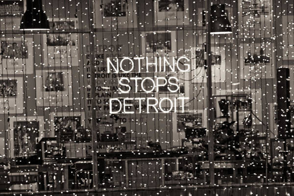 Nothing Stops Detroit  Art Print
