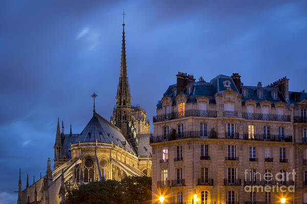 Photograph - Notre Dame Dusk by Brian Jannsen