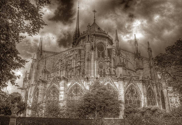 Photograph - Notre Dame From East Garden by Michael Kirk