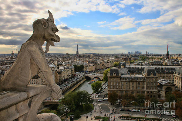 Photograph - Notre Dame Gargoyle by Crystal Nederman