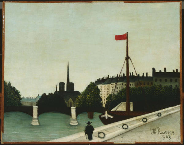 Painting - Notre Dame by Henri Rousseau