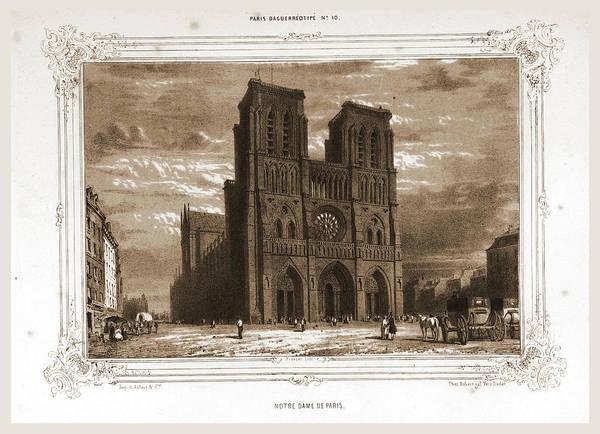 Notre Dame Drawing - Notre Dame, Paris And Surroundings, Daguerreotype by Litz Collection