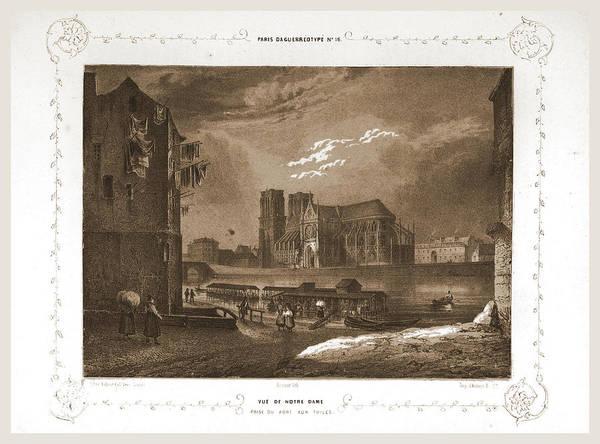 Notre Dame Drawing - Notre Dame, Paris Et Ses Environs, Daguerreotype by Litz Collection