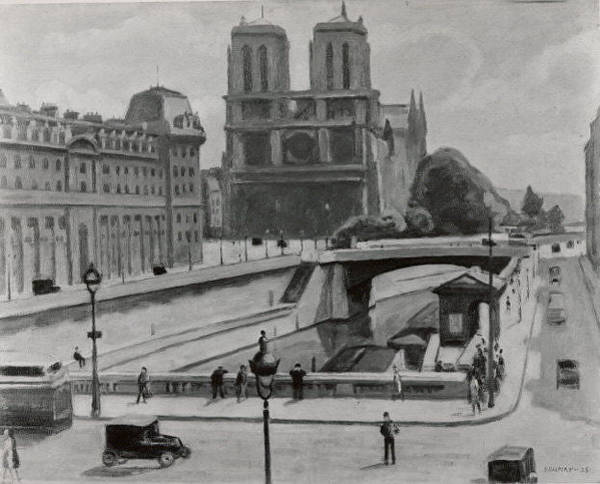 Central America Painting - Notre Dame, Paris by Samuel Halpert