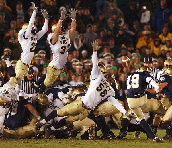 College Football Photograph - Notre Dame Versus Navy by Mountain Dreams
