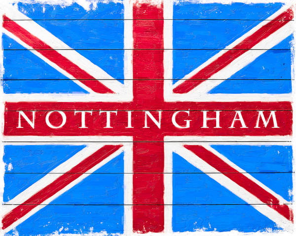 Digital Art - Nottingham Vintage Union Jack Flag by Mark Tisdale