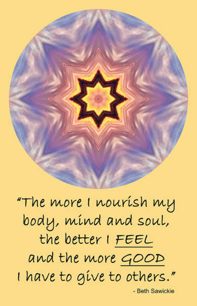 Photograph - Nourish Feel Good Give by Beth Sawickie