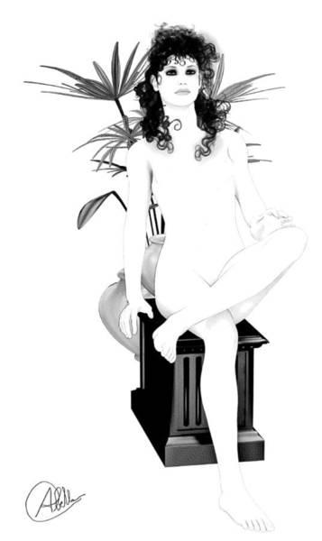 Female Nude Digital Art - Nouveau Beauty by Quim Abella