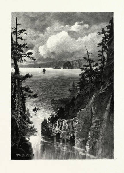 Wall Art - Drawing - Nova Scotia, Cape Split, From Baxters Harbour by Canadian School