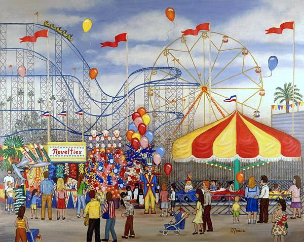 Novelties Painting - Novelties At The Carnival by Linda Mears