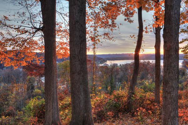 November Morning At The Lake Art Print