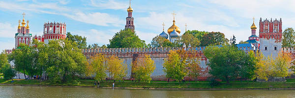 Onion Domes Photograph - Novodevichy Convent And Cathedral Of by Panoramic Images
